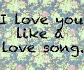 I Love You Like a Love Song (L)