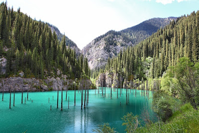 lake kaindy 3%5B3%5D الغابات الغارقة في بحيرة كاندي