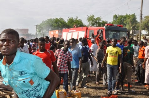 Photos: Scene of today's bomb blast in Maiduguri market1