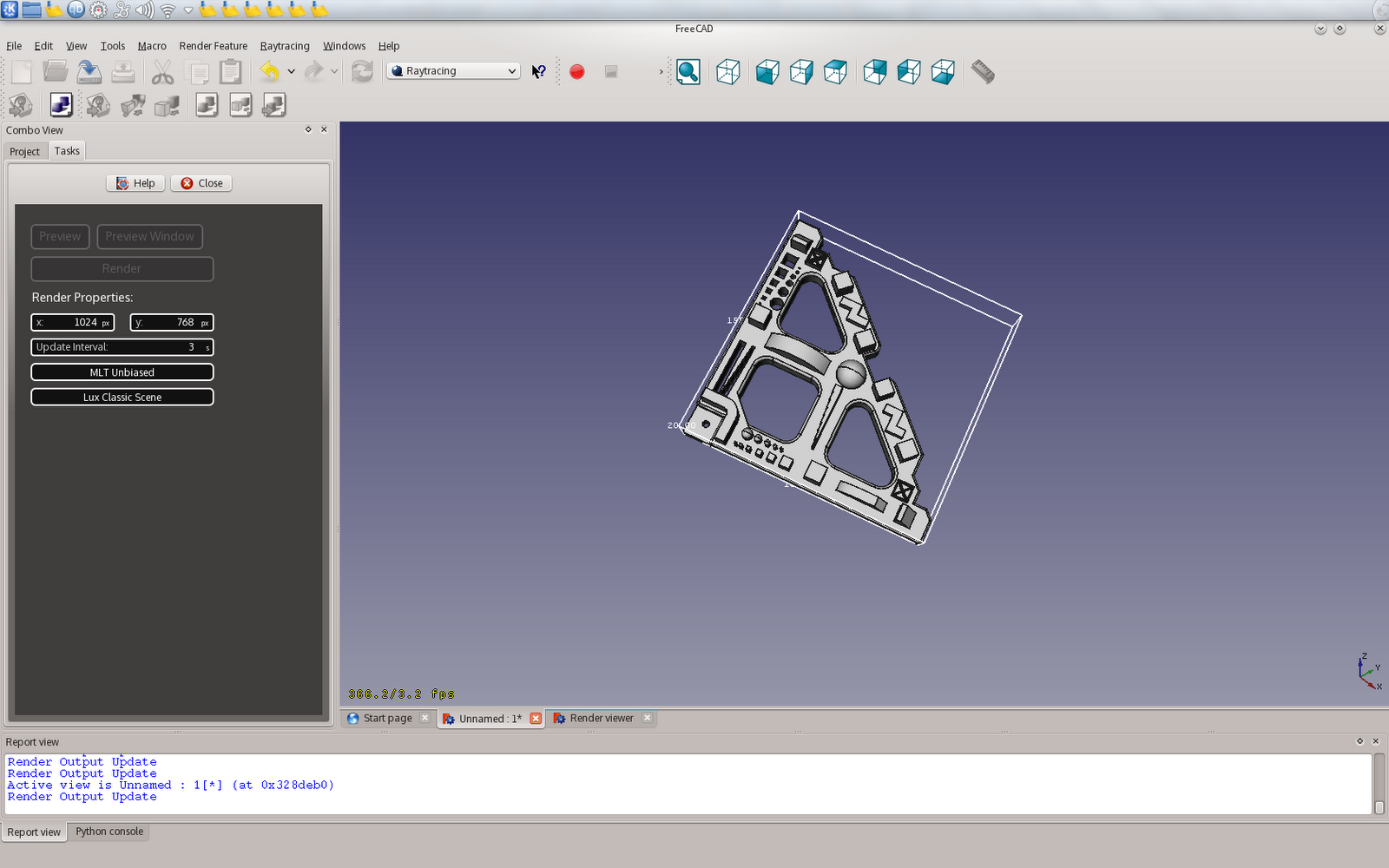 amusements with freecad we have working render templates. Black Bedroom Furniture Sets. Home Design Ideas