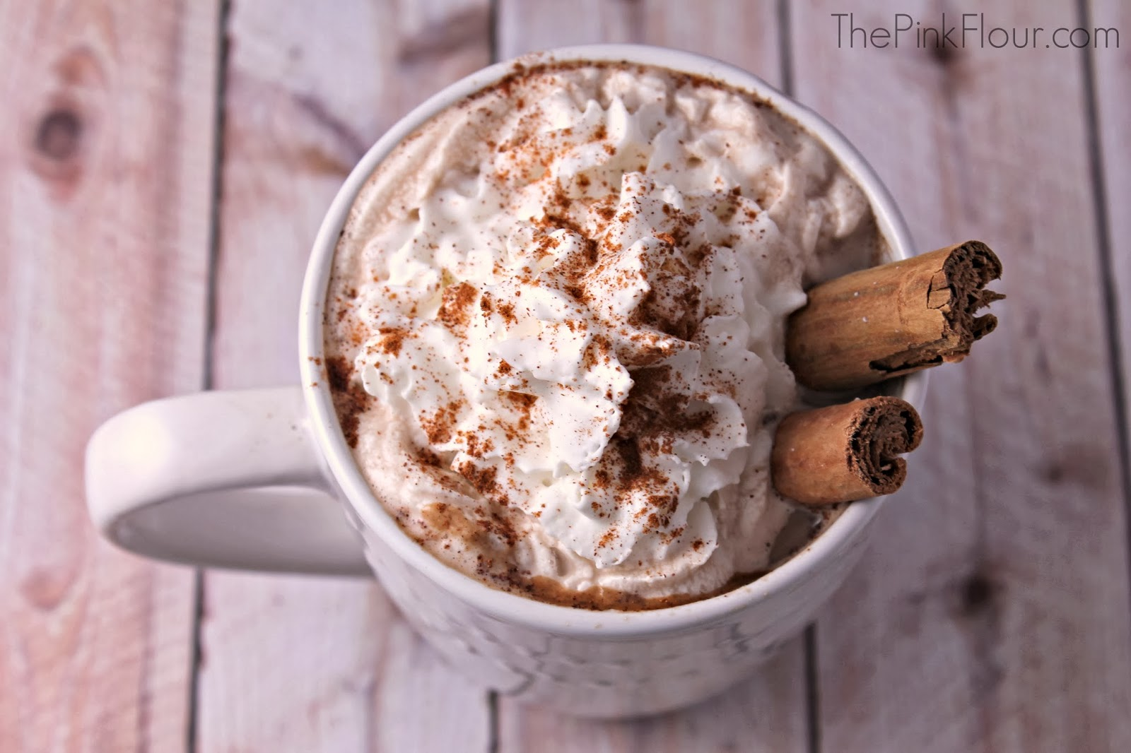 Cinnamon Chocolate Wine Latte - a hot {adult} drink for these cold days from www.thepinkflour.com #Cheers2Chocolate #shop #ChocolatRouge