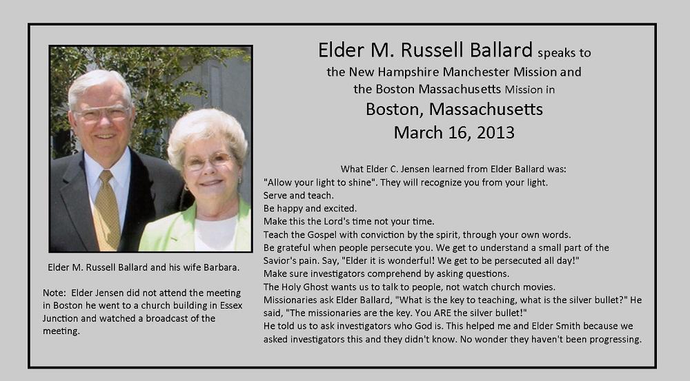 March 16, 2013 - Elder M. Russell Ballard