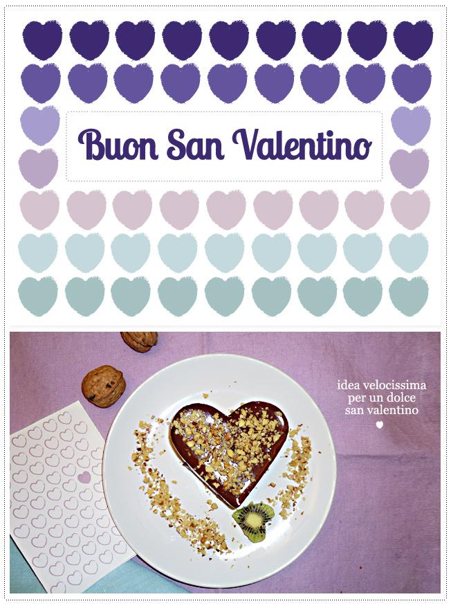 dolce veloce al cioccolato per san valentino