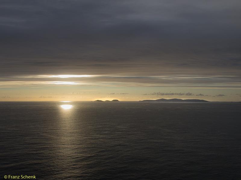 Blasket Islands in the sunset