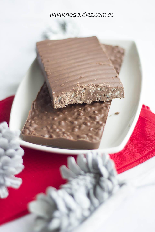 Receta turrón chocolate casero