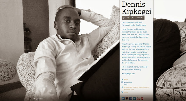 Web Developer and Design Consultant, Dennis Kipkogei