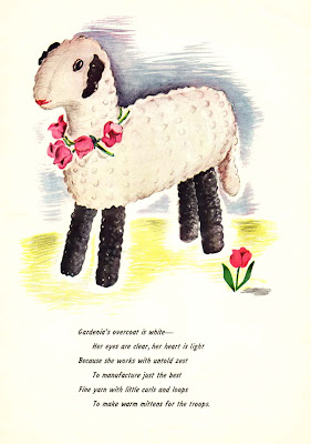 vintage crochet sheep pattern