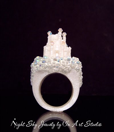 Fantasy Castle Ring with Pearls