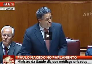 Paulo Macedo; Ministro da Saúde; Administrador Millenium BCP; Seguros de Saúde Médis; UM BANQUEIRO NA SAÚDE; Bancos; BCP; Banco; Banco BCP