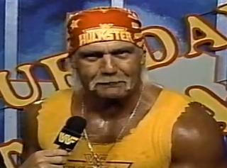 WWF / WWE - This Tuesday in Texas (1991) - Hulk Hogan cuts a pre-match promo against The Undertaker