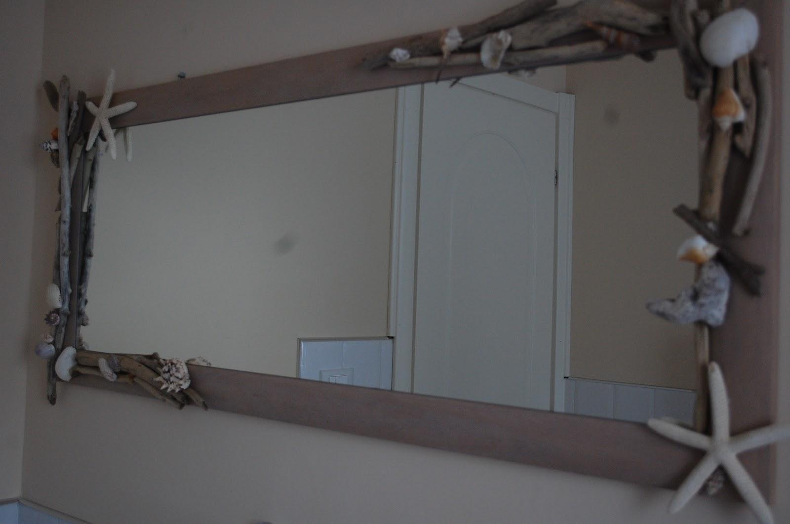 Cuore coccole by francy specchio shabby chic marino for Specchio lungo