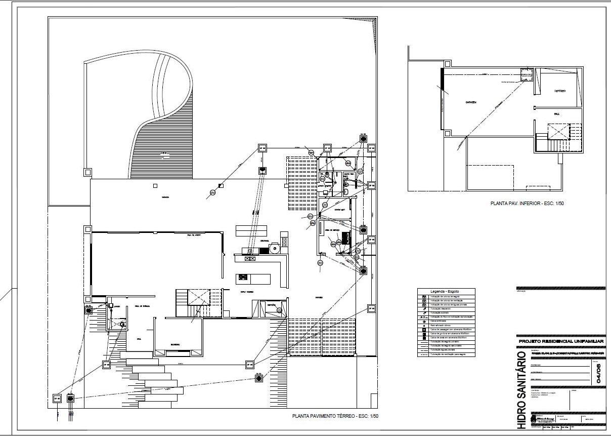 Projetos & Desenhos: Projeto Hidro Sanitário #696462 1208 861