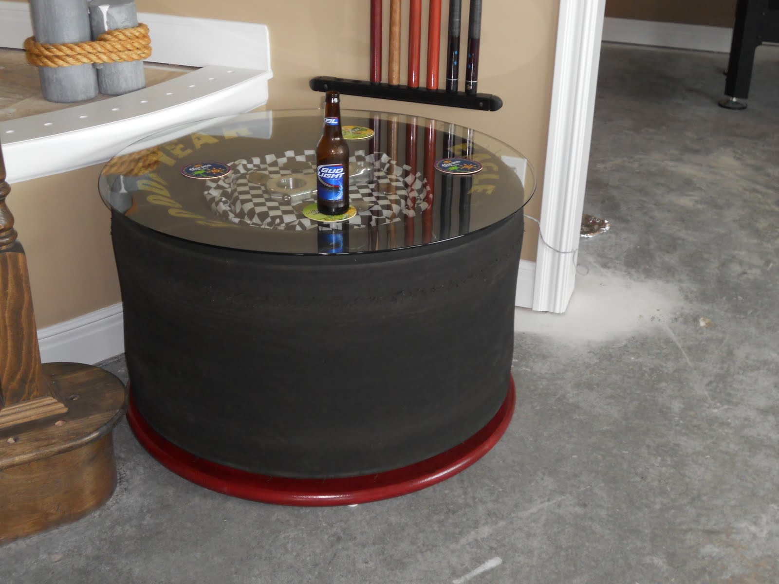 Garage Stool With Back