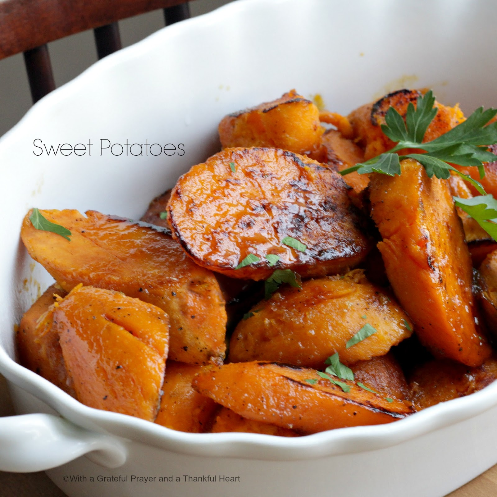 With a grateful prayer and a thankful heart baked sweet for How to make delicious sweet potatoes
