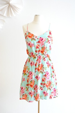Sweet Sleeveless Floral Dress