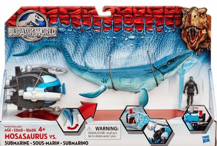 JUGUETES - Jurassic World  Mosasaurus vs. Submarino | Dinosaurio | Figura - Muñeco  Hasbro B1426 | Toys | Película 2015  A partir de 4 años