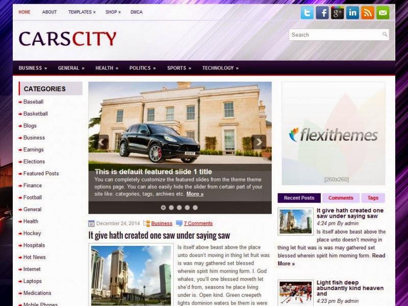 CarsCity - Free Wordpress Theme