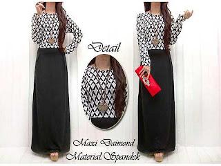 Dress Lebaran Dress Maxi Spandex Kombi Kaos