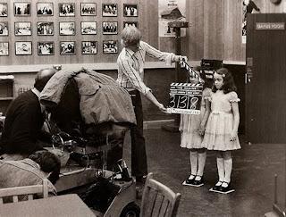 Durante el rodaje de Resplandor - 1980