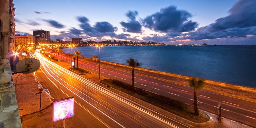 Corniche. Alexandria, Egyiptom.
