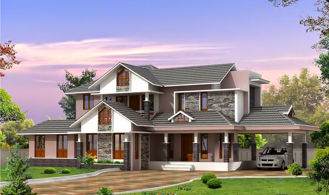 kerala style villa plan and elevation home designs On plans de villa dans le style kerala