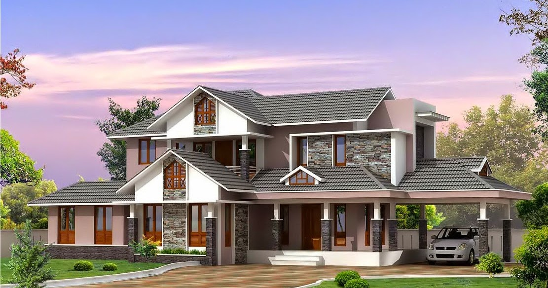 Kerala style villa plan and elevation home designs for Villa plans in kerala style