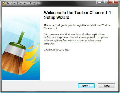 установка программы Toolbar Cleaner на компьютер
