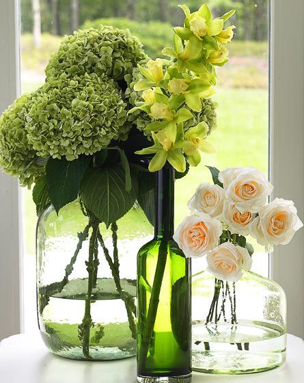 As casamenteiras arranjos em garrafas - Detalles de decoracion ...