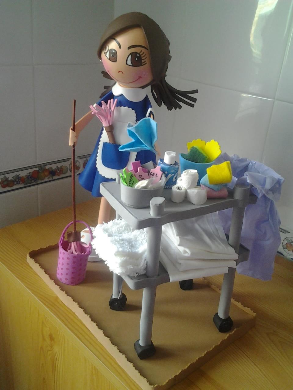 Euge y sus cosinas camarera de pisos for Trabajo de camarera de pisos