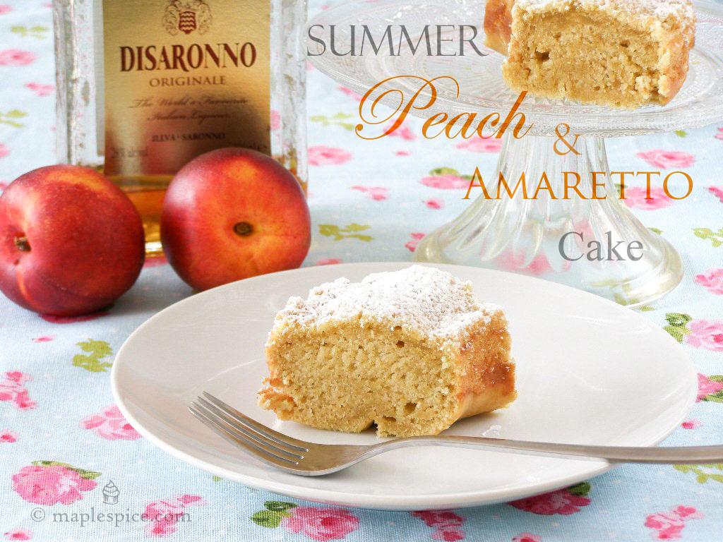 maple•spice: Summer Peach and Amaretto Cake