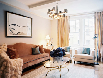 Splendid sass ryan corban design on the upper east side for Ann wolf interior decoration