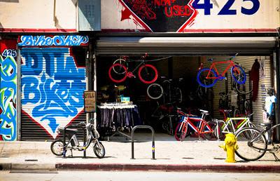 Bicycle shop, Broadway corridor (C)2011 gpfoto