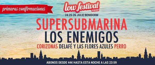 El cartel 2015 de Low Festival se estrena con cinco potentes nombres nacionales
