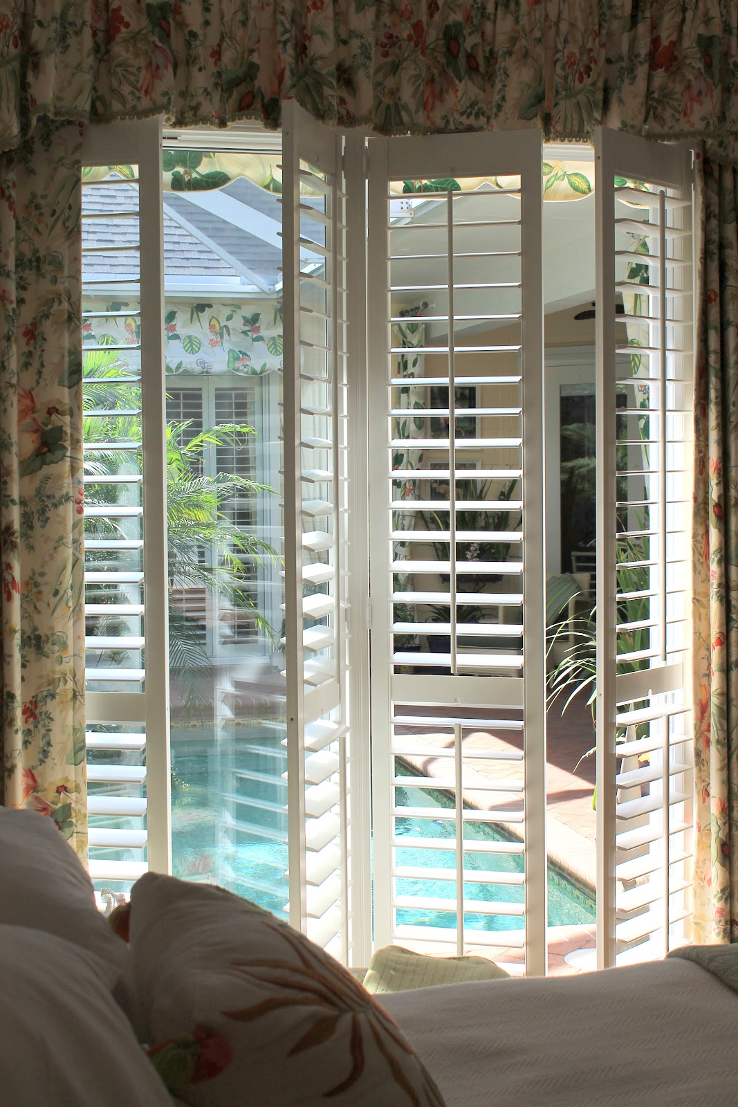 plantation shutters on sliders a close up view