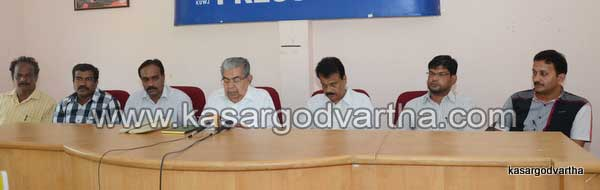 Press Meet, KSTU, March, Muslim-League, Cherkalam Abdulla, N.A.Nellikunnu, C.T Ahmmed Ali, Kasaragod, Kerala.