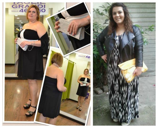 outfit curvy/plus size in tema bianco e nero, Giulia ed Elusabetta