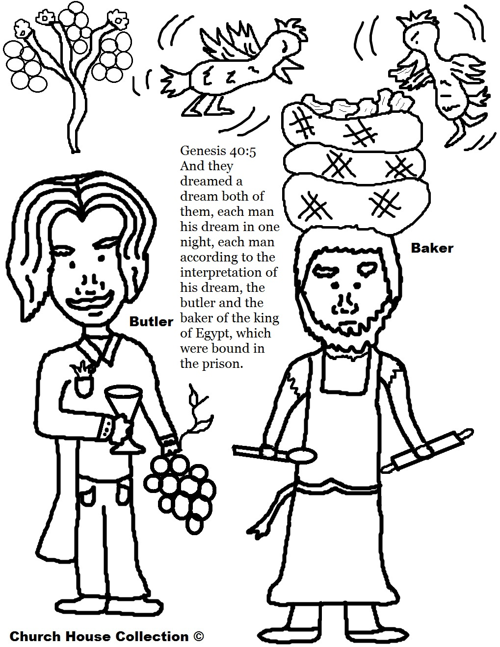 coloring pages joseph in jail - photo#9