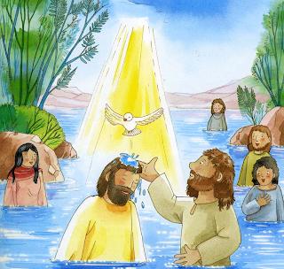 """""""Baptism of Jesus"""" by Isabella Colette"""
