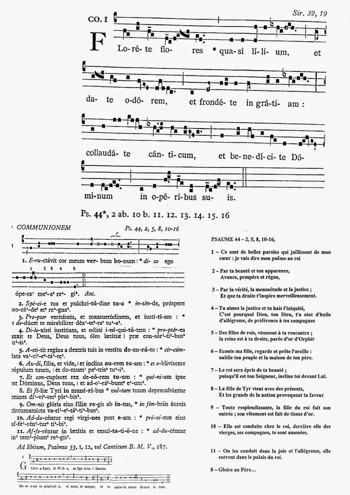 Chorale saint georges xvii me dimanche apr s la pentec te - Laisserons nous a notre table paroles ...