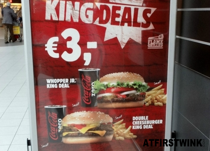 Burger King King Deals at Schiphol airport