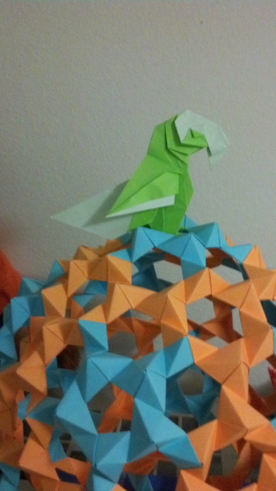 Ohgees Creations Origami Parrotdiagram By Barth Dunkan Ecorigami With A Parrot