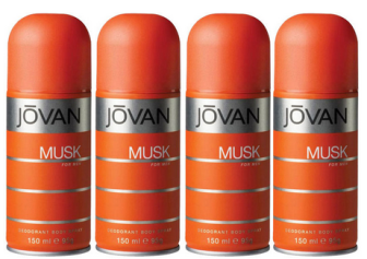Buy Jovan Musk Pack Of 4 Deodorant For Men at Flat 27 % off & Extra 5 % OFF at Rs.449 : Buy To Earn