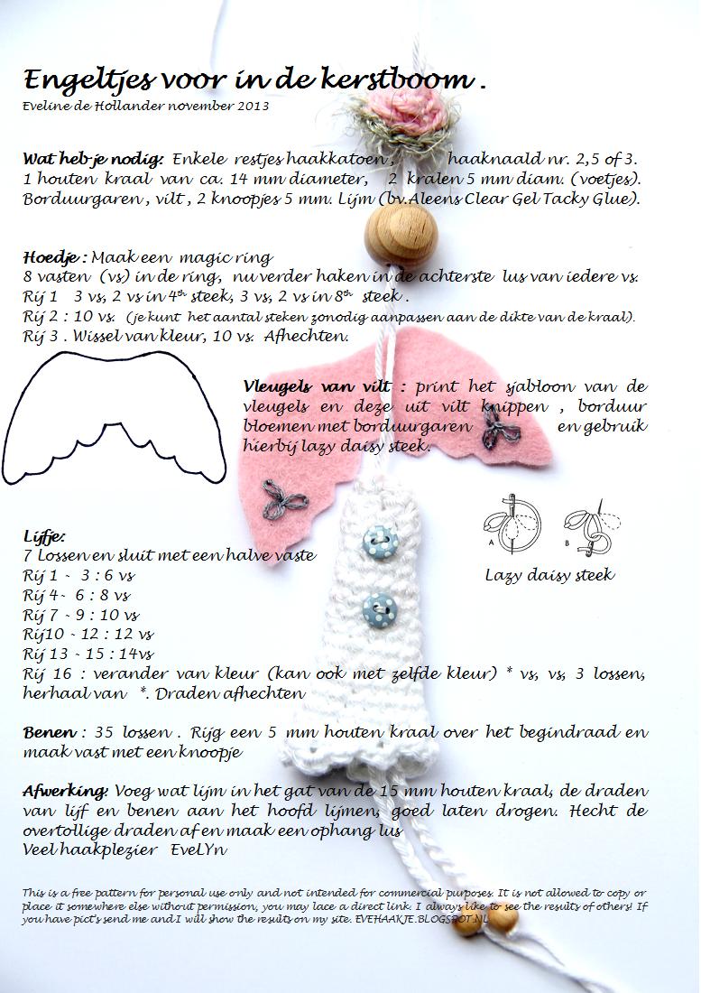 Haken En Kralen Engel Voor In De Kerstboom Angel