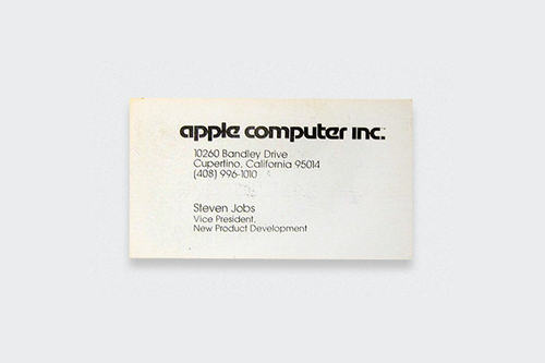 10 Kartu Nama Legendaris dari Tokoh-Tokoh Terkenal Dunia: Steve Jobs