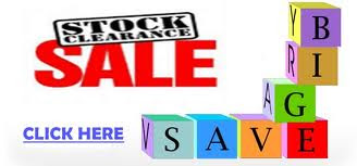 CLEARANCE SALE NOW ON. Hurry While Stock Lasts...