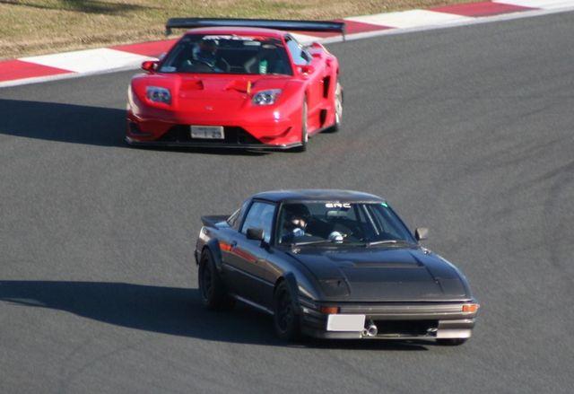 Honda NSX & Mazda RX-7 SA22C , japoński sportowy samochód, tuning, JDM, wyścigi