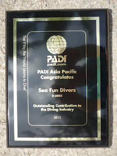 PADI Award for Outstanding Contribution to the Diving Industry
