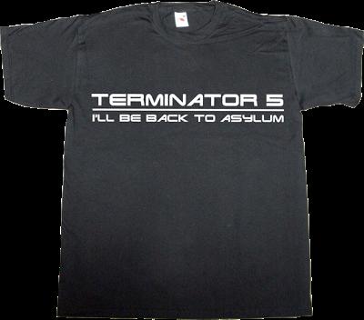 terminator Arnold Schwarzenegger useless sequel t-shirt ephemeral-t-shirts