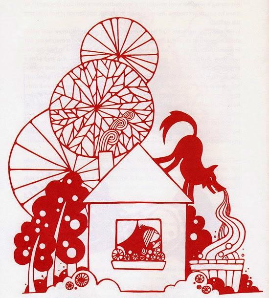 Baśnie na warsztacie, Ilustracje, Czerwony Kapturek, Baśnie Braci Grimm, Gestalt, Mateusz Świstak, Grimm Fairy tales, Redcap