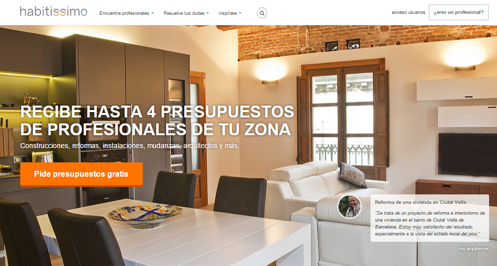 Maquilla tu casa: Habitissimo ofrece sitios web gratuitos para los ...
